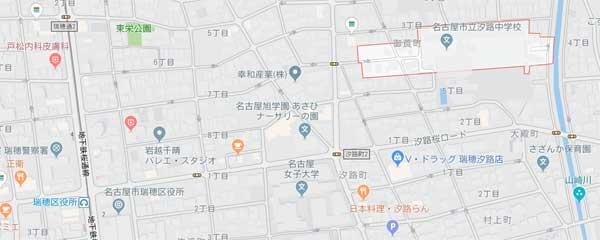 汐路中学校地図